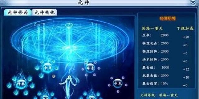 九天传元神等级怎么提升 元神等级提升方法是什么