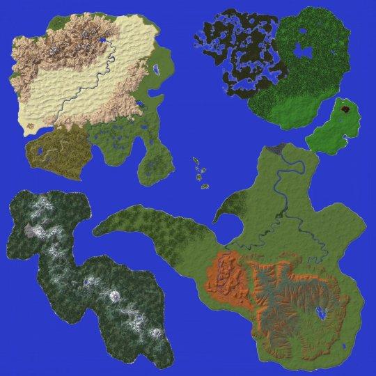 《我的世界》玩家耗时两月制作一张大型游戏地图